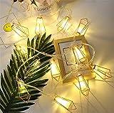 MS.REIA Luces de la Secuencia del Arte del Hierro del LED, Ahorro de la energía, Ventana casera de la Tienda del Hotel Decoración romántica Navidad el Blanco Caliente 9.8ft