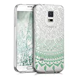 kwmobile Samsung Galaxy S5 Mini G800 Hülle - Handyhülle für Samsung Galaxy S5 Mini G800 - Handy Case in Mintgrün Weiß Transparent