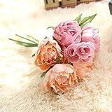 TWBB Romantique Artificielle Fleur de Feuille Maison Mariage Party Decor Fleur Artificielle de Haute qualité de rétro Couleur