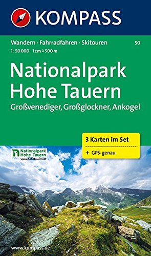 Nationalpark Hohe Tauern 1 : 50 000: Großvenediger, Großglockner, Ankogel. 3-teiliges Wanderkarten-Set. GPS-geeignet. 1:50.000 -