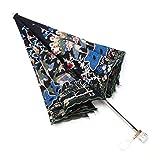 Unbekannt Eleganter Pfau Gestickter Sonnenschirm-Luxus-faltender Lichtschutz UVschutz-weiblicher Regenschirm THANSANDAU