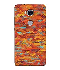 FUSON Designer Back Case Cover for Huawei Honor 5X :: Huawei Honor X5 :: Huawei Honor GR5 (Geometric Watercolour Art Print Pink Bright)