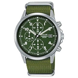 Pulsar PM3127X1 – Reloj cronógrafo para Hombre, Estilo Militar, Formalmente y Mejorado PJN301X1