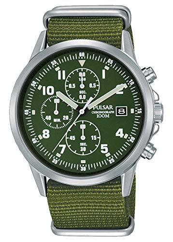 Uomo stile militare Pulsar cronografo PM3127x 1-formale e enhanced...