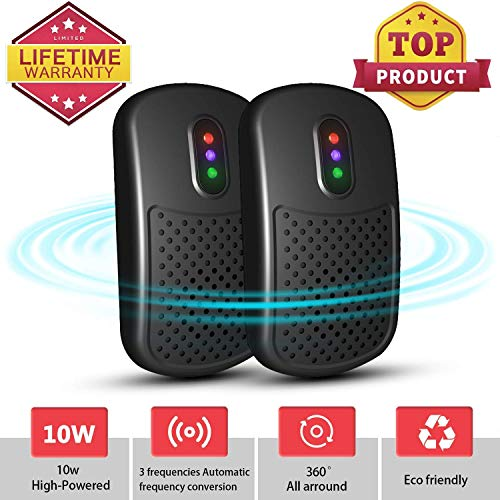 ATOOBSR Ultrasonic Pest Repeller Plug in 2 Packs Mice Repellent Electronic Rodent Control