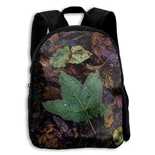 Drop-leaf Top (ADGBag Water Drops On Green Maple Leaf Print A Durable Kid's Mini BackpackShoulder Bags School Book Travel Backpack Kinderrucksack Rucksack)