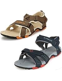 Globalite Men's Combo of 2 Multicolor Sandal & Floaters GPD0130_GPD0131