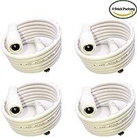 kabenjee 4x 1m/3.3ft DC fuente de alimentación de cable de extensión, 5.5mm X 2.1mm DC garantía alambre conector para tira LED de CCTV Sistemas de cámaras de vigilancia de Auto, DVR, AHD Vigilancia, WiFi Router, PoE