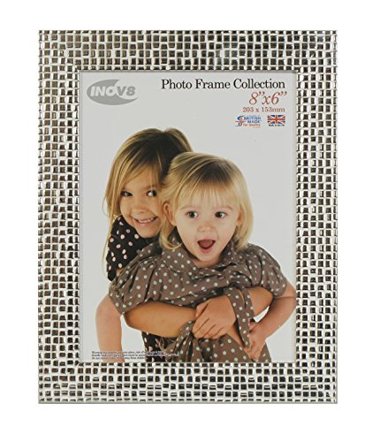 Inov8 8 x 6-Inch British Made Picture/Photo Frame, Mosaic Silver