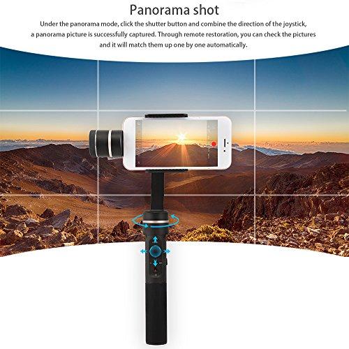 Feiyutech SPG C 3-axis stabilizzato sospensione cardanica verticale e orizzontale shooting messa a fuoco manuale Face Tracking panorama e fotografia time-lapse per Support 50millimetri-80mm larghezza smartphones