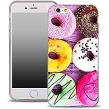 OOH!COLOR® Design Coque pour IPHONE 5 et 5S, SE Case Silicone OFD020 Beignet Gâteau Chocolat avec l'image SoupleT transparente Etui de Protection en TPU