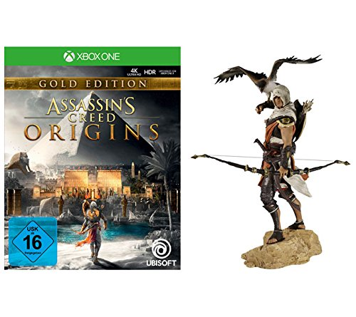 Assassin's Creed Origins - Gold Edition - [Xbox One] + Bayek Figur (32cm) (Spiele One Xbox Assasins Creed)