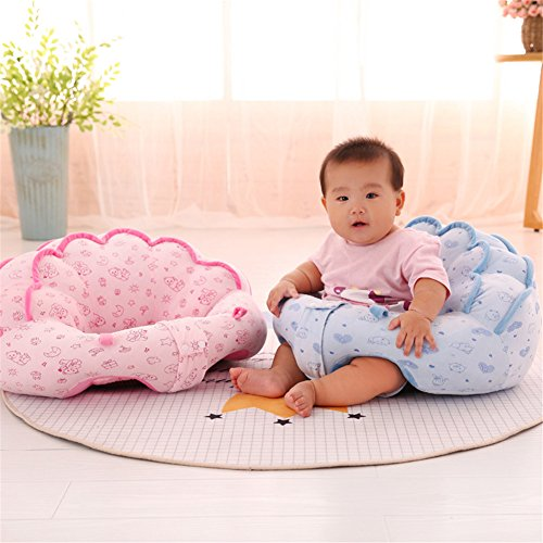 Uni Best Baby Sitting Chair Nursery Pillow Protectors, Colorful Pattern Lovely kids Baby Support Seat Soft Pillow Cushion Sofa Plush Toys - Children's Furniture Round Chair Seat (big pink)