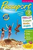 Image de Passeport - Français-Maths-Anglais de la 3e à la 2de