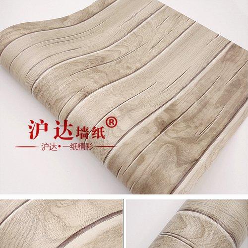 HL-PYL - Retro neuen chinesischen Stil, Holz imitierenden Bodenbeläge, Tapeten, Wohnzimmer Sofa, Fernseher Hintergrund, moderne Dreidimensionale klassische Tapeten 10 m * 0,53 m, 8 - 66023,10 m * 0,53 m