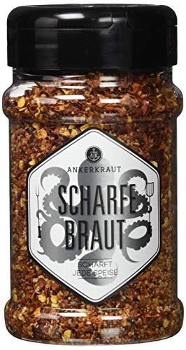 Ankerkraut Scharfe Braut, 165g im Streuer, sehr scharfe Gewürzzubereitung für Fleisch (Cayenne-pfeffer Salz)
