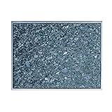 Granitfeld mit Edelstahlrahmen Granitplatte Granit