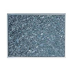 Naturstein Blue Pearl 30 cm x 20 cm Servierbrett mit Edelstahl-Griff Schneidebrett