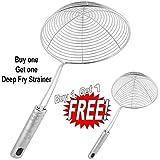 Inspire Best Quality Big Size Deep Fry Strainer Free Small Size Deep Fry Strainer (Buy One Get 1)