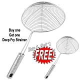 #2: Inspire Best Quality Big Size Deep Fry Strainer Free Small Size Deep Fry Strainer (Buy One Get 1)