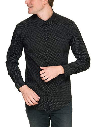 bac94659cab3 SORBINO UOMO Men s Camicia Collo Italiano Shirt Black in Size X-Large