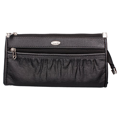 Modish Designs Multipurpose Make-up Pouch/Toiletry Bag/Cosmetic Pouch/ Clutch/ Wallet For Women & Girls (Black)  available at amazon for Rs.199