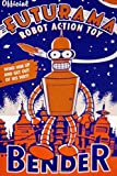 "Futurama: Notebook, Bender, Diary,(200 Pages, 6"" x 9"", in lines, Journal ), Composition Notebook, Cover Soft"