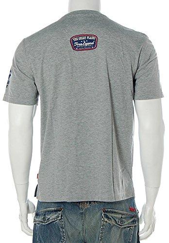 Signum Herren Kurzarm Shirt T-Shirt Rundhals True Legend Santa Fe Trail Grau Melange