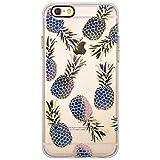 iPhone 6 Plus Hülle, Transparente Bumper Case TPU Weiche Silikon Schutzhülle, Schwarze Loch Kamera, Malerei Muster Hülle für Apple iPhone 6 Plus / 6S Plus (5.5 Zoll) - Ananas
