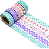 K-LIMIT 5 Set Washi Tape rollos de Washi Tape, cinta decorativa autoadhesivo, cinta de enmascarar, masking tapemasking tape scrapbooking, DIY 9753