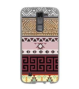 Fuson Designer Back Case Cover for LG K7 :: LG K7 Dual SIM :: LG K7 X210 X210DS MS330 :: LG Tribute 5 LS675 (White Block Brown block Pink Block Purple Block beige Block)