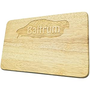 Frühstücksbrett Baltrum Gravur Nordseeinsel Holz