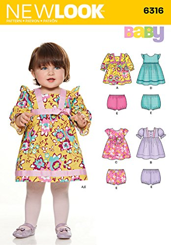 NEW LOOK U06316A Babies' Dresses and Panties Sewing Template