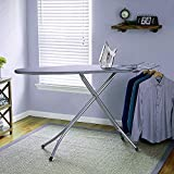 Oumffy Extra Large Big Size Multi-Function Folding Ironing Board/Iron Table with Press Stand for Home (XL, Grey)