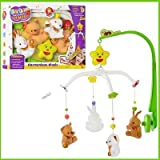 #1: BabyGo Teddy Cot Mobile Cradle Musical Rattle For Babies Jhoomer