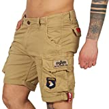 Alpha Industries Crew Patch Shorts (36, Black)
