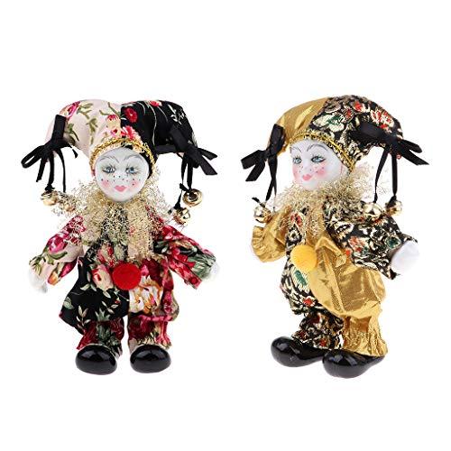 Stü Porzellan Puppen Sammlerstü 16cm Höhe Harlekin Puppe Im Kostüm, Kreative Valentin Geschenke Für Ihn Oder Freundin ()