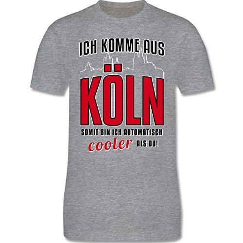 Städte - Ich komme aus Köln - Herren Premium T-Shirt Grau Meliert