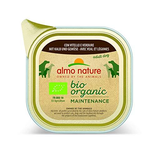 Almo Nature Daily Bio Nourriture pour chien avec le Veau et légumes, 100g, Lot de 32