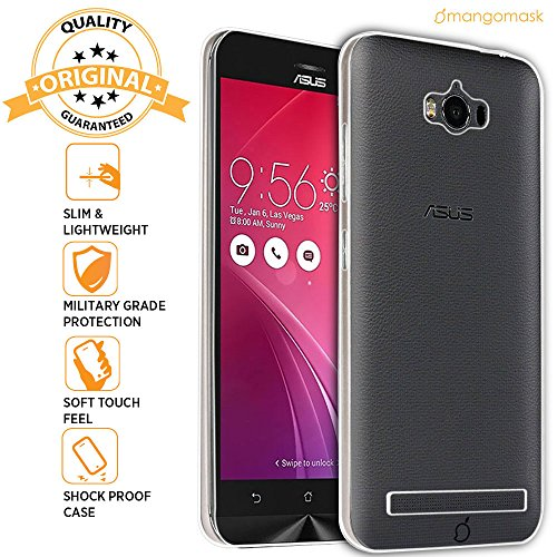 Mangomask Asus Zenfone Max ZC550KL Back Case Cover Crystal Series Clear Transparent TPU Case  available at amazon for Rs.99