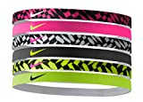 Nike Printed Head Bands Assorted 6pk cinta, todo el año,...