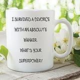 Lustige Neuheiten Becher Survived Eine Scheidung Geschenk Spass Spruch Tasse Tee WSDMUG574