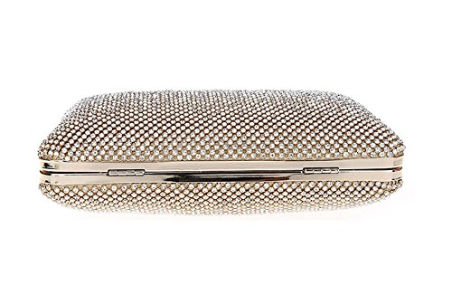 KAXIDY Luxus Damen Abendtasche Handtasche Unterarmtasche Damentasche Strassbesatz Handtasche Diamanten Gold