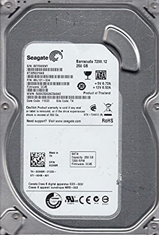 ST3250318AS, 9VY, TK, PN 9SL131-034, FW CC45, Seagate 250GB SATA 3.5 Hard Drive