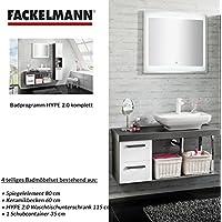 Comparador de precios Fackelmann Juego de Muebles de baño Hype 2.0Mueble para Lavabo/Lavabo/Espejo - precios baratos