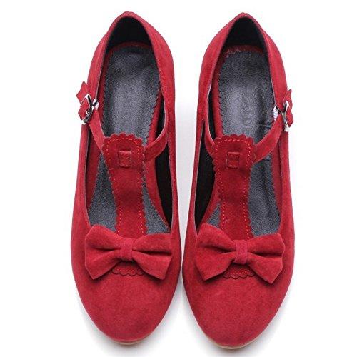 Escarpins Talons Femme Escarpins Avec Rouge T Mode COOLCEPT Courroie En Lac WAPB0qq6