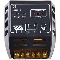 TOOGOO(R) CMP Controlador de Carga para Placa Solar 10A 12V/24V