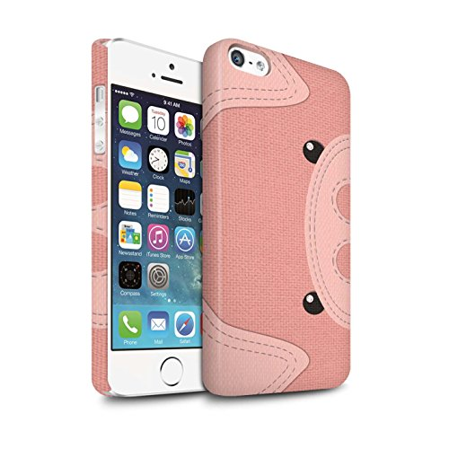 STUFF4 Matte Snap-On Hülle / Case für Apple iPhone X/10 / Pinguin Muster / Genähte Tier Effekt Kollektion Schwein