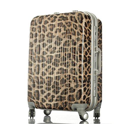 Xiuxiandianju 20 pollici 24 pollici 28 pollici ruota universale leva viaggio impermeabile ABS valigia bagaglio di viaggio diversi SuitcaseColour & taglia (36-55L) 008