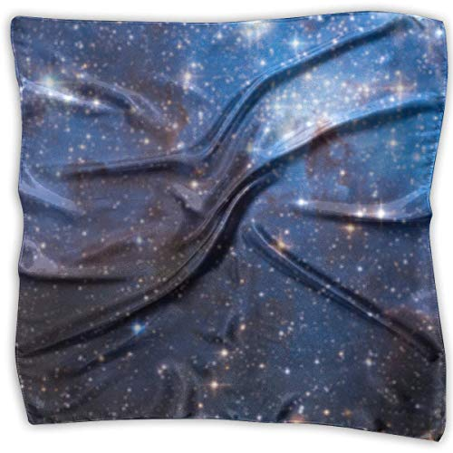 Zcfhike Starry Sky Women Floral Printed Lady Square Scarf Head Wrap Kerchief Neck Shawl -